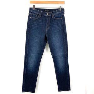 UNIQLO Cropped Skinny Jeans Dark Blue Denim i8